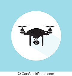 wektor, sylwetka, ilustracja, truteń, aparat fotograficzny, projektować, logo, technologia, ikona