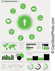 wektor, szczegół, infographic