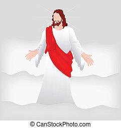 wektor, sztuka, chrystus, jezus