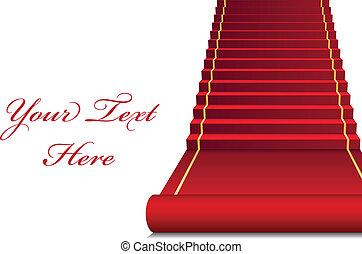 wektor, tło, czerwony dywan