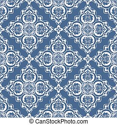 wektor, tło, etniczny, wschodni, próbka, ornament., pattern., seamless, struktura, elegancki, arabski, arabeska, backgrounds., kwiatowy, style.