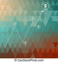 wektor, tło, szablon, geometryczny, infographic
