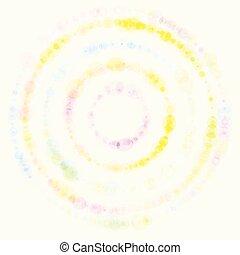 wektor, tło, z, barwny, dots.