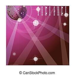 wektor, tło, z, disco piłka