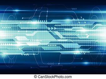 wektor, technologia, abstrakcyjny, system, ilustracja, tło, ...