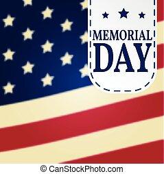 wektor, template., tło, poster., patriotyczny, dzień, szczęśliwy, banner., illustration., memoriał