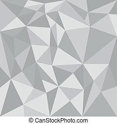 wektor, trójkąt, szary, tło