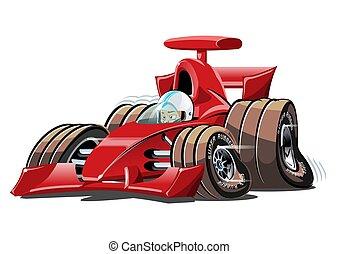 wektor, wóz, odizolowany, 1, prąd, formułka, biały, rysunek