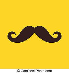 wektor, wąsy, ikona