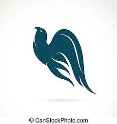 wektor, wizerunek, od, na, ptak, na białym, tło