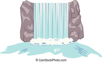 wektor, wodospady