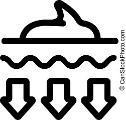 wektor, zajmujący, symbol, icon., odizolowany, ilustracja, kontur