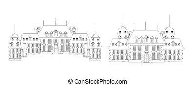 wektor, zamek