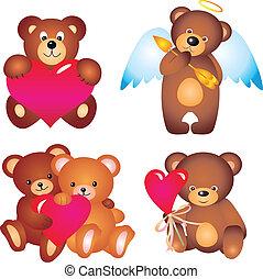wektor, zbiór, bears.