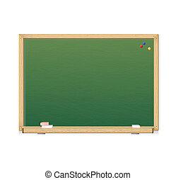 wektor, zieleń chalkboard
