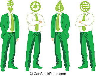 wektor, zieleń handlowa