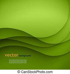 wektor, zielone tło