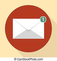 wektor, znak, email
