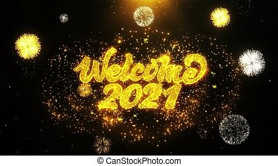 Welcome 2021 Wishes Greetings card, Invitation, Celebration...