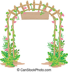 Welcome Arch Trellis - Illustration of a Trellis That Acts...