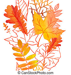 Welcome Autumn Watercolor Collection
