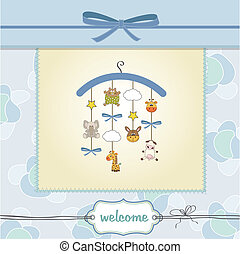 welcome baby announcement card