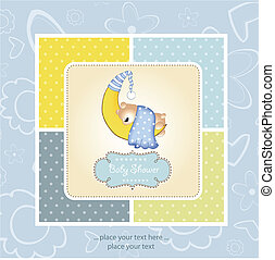 welcome, baby announcement card