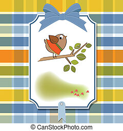 welcome baby card with funny little
