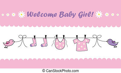 Welcome Baby Girl - Cute pink welcome home baby girl...