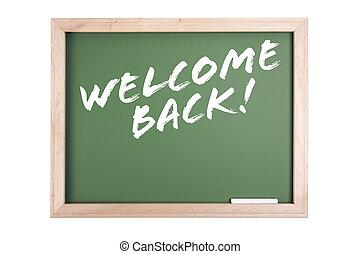 Welcome Back Chalkboard