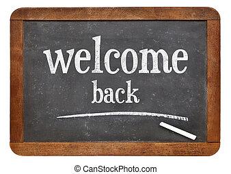 Welcome back sign on blackboard