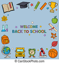 Welcome back to school bacground