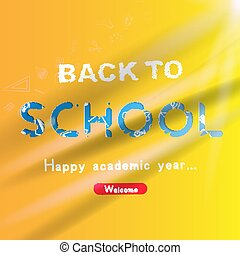Welcome Back to school. Banner with set of doodle icons. Concept for education. Vector illustration EPS10