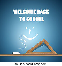Welcome Back to School Blue Background