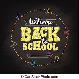 Welcome back to school concept vector design