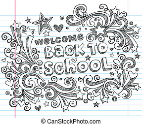 Welcome Back to School Doodle Stars