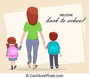 Welcome Back to School poster or flyer
