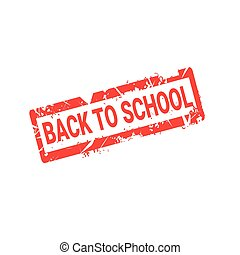 Welcome Back To School Stamp Logo Red Grunge Label Icon