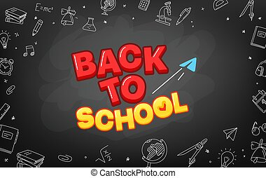 Welcome back to school vector concept