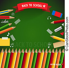 Welcome back to school, vector illustration.