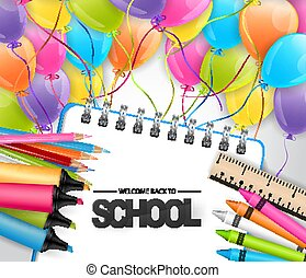 Welcome back to school vector illustration.