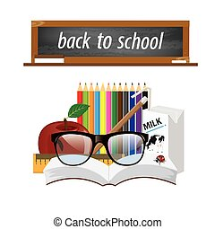 Welcome back to school, vector illustration.2