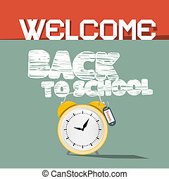 Welcome Back to School Vector Retro Illustration