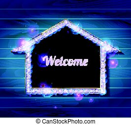 Welcome banner glowing arrow