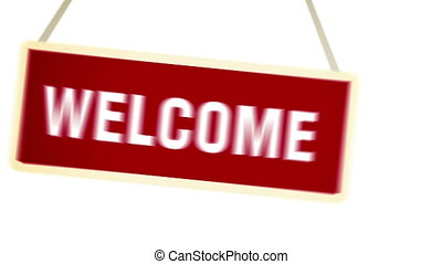 """Welcome Banner. "" - ""Welcome Banner. Welcome Sign animation..."