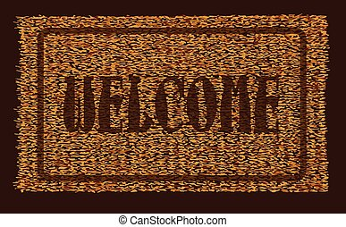Welcome Coconut Doormat - A typical welcome coconut doormat...