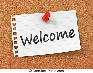 Welcome greeting introduction words letters 3d illustration welcome greeting introduction words letters 3d illustration m4hsunfo