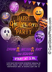 Welcome Flyer for Happy Halloween party.