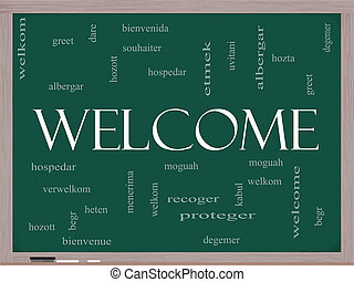 Welcome Foreign Language Word Cloud on Blackboard - Welcome...