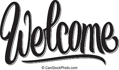 Welcome hand written lettering